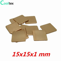 Vga heat sink online shopping - x15x1 mm DIY Copper Heatsink Shim Thermal Pad Heat Sink Sheet For Laptop GPU CPU VGA Chip RAM cooler cooling