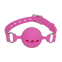 Chinese  3 Size Full Silicone Open Mouth Ball Gag in Adult Game Bondage Restraints Sex Products BDSM Erotic Toy Couple Sex Toys manufacturers