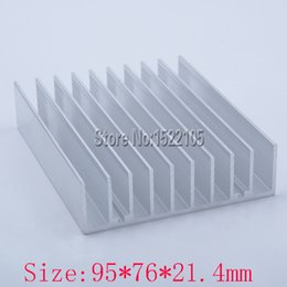 Discount radiators wholesale - Wholesale- Heatsink 95x76x21.4mm Aluminum heatsink heat sink radiator for Electronic cooling Ex-factory price