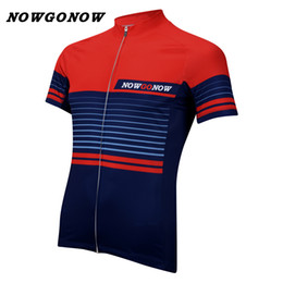 Boys Bike Bicycle Cycle Canada - custom men 2017 cycling jersey pro team clothing bike wear red deep blue NOWGONOW tops bicycle racing road mountain Triathlon CHINA summer