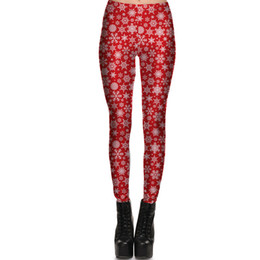 9800081cce93 Snowflake Tights Women UK - Christmas snowflake pants Festival snow red  gift tight Women gym clothing