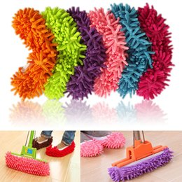 Barato Meias Preguiçosas-Multifuncionais Mop Slippers Quick House Cleaner Lazy Floor Polishing Dusting Cleaning Foot Socks Shoe Cover Dona de casa amantes sapatos 2Pcs