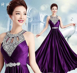 T shirTs waTer drops online shopping - 2018 Vestido A Line Elegant Prom Long Evening Dresses Sexy Backless Sequins and Crystals Special Occasion Dresses Evening Party Gowns