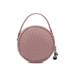 Coin bag korean online shopping - 2017 new fashion simple Korean hand woven mini round bag coin purse wild personality single shoulder diagonal cross handbag