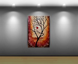 "$enCountryForm.capitalKeyWord Canada - Framed A ""Beautiful Life"" TREE WALL ART Autumn Fall Art,Handpainted LANDSCAPE ABSTRACT HOME DECOR Art Oil Painting Canvas Multi sizes Ab077"