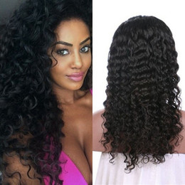 $enCountryForm.capitalKeyWord NZ - Deep Curly Mongolian Human Hair Wigs With Baby Hair Pre Plucked Unprocessed Glueless Curly Full Lace Wigs FDSHINE HAIR