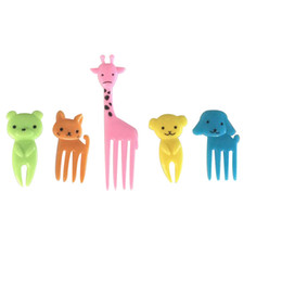 $enCountryForm.capitalKeyWord UK - 30pcs colorful animal style mini fruit pick lunch box pick with safe raw material