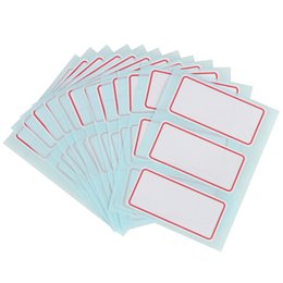 White Blank Sticker Paper UK - 12sheets pack self adhesive label Blank post it note label Bar sticky white writable name stickers 34*73mm
