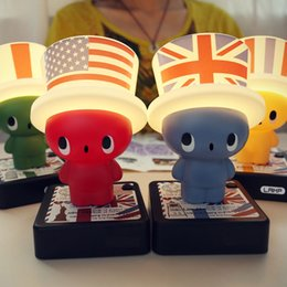 Baby Doll Night Canada - 4 Colours Novelty 3D Doll Night Light LED Lamps  Flag Hats 7d7e5dbd5