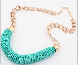 Chunky Chains online shopping - Newest Chunky Chain Simple Measle Necklace Jewelry for Women Lady Girl Fashion Cylinder Chokers Xmas Gift Colors Can Choose