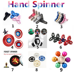 Blue fidget spinners online shopping - Tri Fidget Spinner Hand Spinner Finger EDC Toy For Decompression Anxiety Stainless Steel Metal Aluminium Alloy Triangle Toys