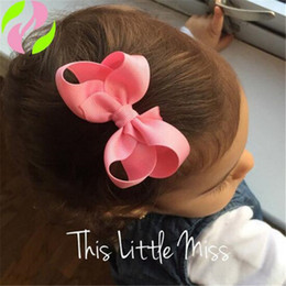 Discount baby hair clips korea - Korea INS Hair Bows Clip Cheer Bows Grosgrain Boutique Baby Children Hair Accessories for Girl Fashion Xmas Gifts