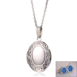 $enCountryForm.capitalKeyWord UK - Stainless Steel openable Keepsake Vintage Jewelry Round Photo Frame Locket Real Pendant Necklace For he or she girl Lover's valentine's day