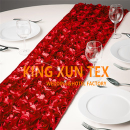 $enCountryForm.capitalKeyWord NZ - Nice Looking Satin Rosette Fabric Table Runner Fit On Table Cloth For Wedding And Event Decoration