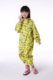 Rains Pants Canada - Yellow Rain waterproof Raincoat For Children Kids child rain coat ponchos pants trousers sport suit