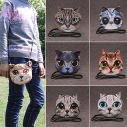 $enCountryForm.capitalKeyWord Canada - 2016 Fashion Retro Cartoon 3D Printing Animal Shoulder Bags Cat Face Pouch Women Handbag for Girls Coin Purse Clutch Bag