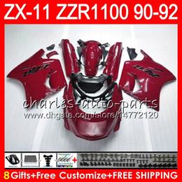 $enCountryForm.capitalKeyWord Australia - 8Gifts 23Colors For KAWASAKI NINJA ZX11 ZX11R 90 91 92 ZZR 1100 red black 21NO93 ZX 11 11R ZZR1100 ZX-11R ZX-11 1990 1991 1992 Fairing Kit
