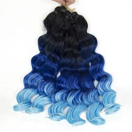 "$enCountryForm.capitalKeyWord UK - Synthetic Bundles for Women 16""inch 3piece lot Freetress Deep Wave Braiding Hair Crochet kinky Twist Braids 3Tone Ombre 1B BLUE light blue"