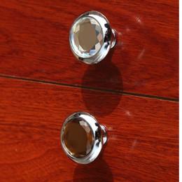 Crystal Pull Cabinet Handles Australia - modern simple glass drawer cabinet knobs pulls brown clear crystal dresser kitchen cabinet door handles knobs silver chrome knob