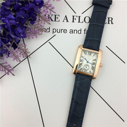 Dial Box NZ - Classic Women Watch Square Dial Face Genuine Leather Japan Movement Small Dials Leisure Fashion Lady Wristwatch Foreign trade sales Free box