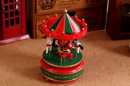 $enCountryForm.capitalKeyWord Canada - Vintage Wooden Merry-Go-Round Carousel Music Box Kids Children Girls Christmas Birthday Gift Unique Toy Wedding Home Decoration