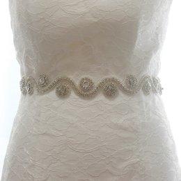 Ingrosso Spot commercio estero handmade lusso sposa sposa cintura vita diamante chaton abito da sposa ornamenti accessori 95-115 cm Lunghezza