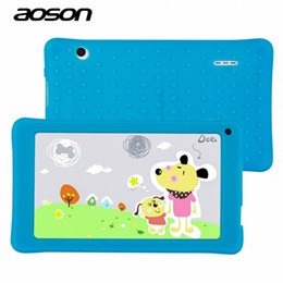 Discount hd quad core tablets - Wholesale- NEW AOSON 7 inch kids Tablet PC with silicon case HD 1024x600 512MB+8GB WiFi Bluetooth Dual Camera Android 4.
