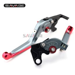 Folding Extendable Brake Clutch Levers UK - For YAMAHA YZF-R25 YZF-R3 MT-25 MT-03 2015-2016 Motorcycle Adjustable Folding Extendable Brake Clutch Levers Red+Titanium
