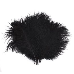 ostrich plumes feather UK - 100pcs lot 14-16inch(35-40cm) Gold and black ostrich feathers plumes Wedding centerpieces wedding decor feather decor z134