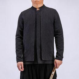 China Coat Xl Canada - Wholesale- 2016 autumn new men jacket cotton linen casual jacket coat men china style stand collar slim fit jacket plus size M-4XL,Q544