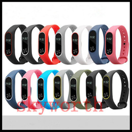 Wholesale xiaomi mi watch for sale - Group buy For Xiaomi Mi TPU Dual Color Silicone Smart Bracelet Wristband band Replacement Strap Miband Smart Bands Strap environment watch band