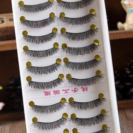 Soft False Eyelashes Canada - 10 pairs set New Makeup False Eyelashes Soft Natural Cross Long Eye Lashes Extension maquiagem Wholesale Store 31213