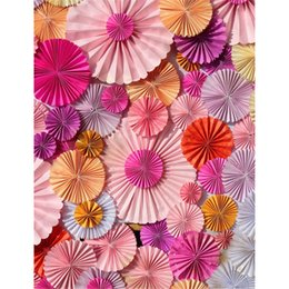 Paper Photography Backdrops Australia - Vinyl Photography Background Colorful Paper Flowers Newborn Baby Shower Backdrop Kids Birthday Party Photo Booth Backdrops