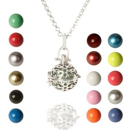 Pregnancy Chime Pendant NZ - Copper Harmony Caller Musical Pregnancy baby belly Chime Bola box Bell ball pendant Fetal education angel caller necklace