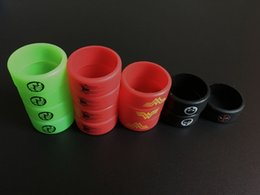 $enCountryForm.capitalKeyWord Canada - ECIG Vape Bands Silicone Rings Colorful with Spiderman Wonder Woman Hulk Punisher Logo Colorful Decoration Custom RDA RBA Rubber Rings