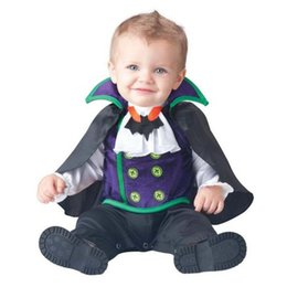 Barato Roupas De Cosplay Piratas-Lovely Animal Halloween Outfit for Baby Grow Meninos infantis Meninas Baby Fancy Dress Cosplay Costume Bat / Pirate / Vampire