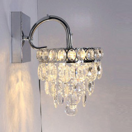 Bathroom Sconces With Crystal modern led crystal wall sconces bedroom light luminaire home