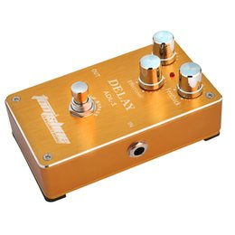 Bass guitar effects online shopping - New Aroma ADL Delay Effect Electric Guitar Effect Pedal True Bypass Aluminum Alloy Housing Guitar bass pedals