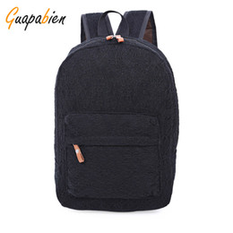 1d5a2c742b0d Wholesale- Guapabien Fashion Korean Preppy Style Lace Canvas Women Backpack  Travel Rucksacks Youth Campus Book Bags School Black White Bags