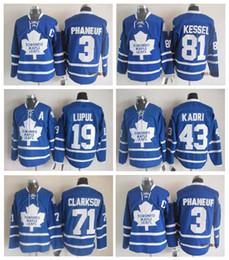 d30e9cf14 ... Blue Third Jersey Toronto Maple Leafs Home Jersey Mens 9 JOFFREY LUPUL  43 NAZEM KADRI 81 PHIL KESSEL 71 ...