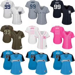 Fashion Navy Cool Base Player Jersey 2017 custom Womens New York Yankees 99  Womens New York Yankees 99 Aaron Judge White Pink Fashion Stitched MLB ... ae81421b6