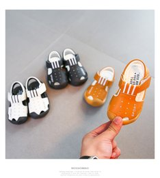 Brown Toddler Sandals Australia - 2017 summer Bunny Baby Shoes, children's princess shoes, children sandals, soft soles, Baotou toddler shoes