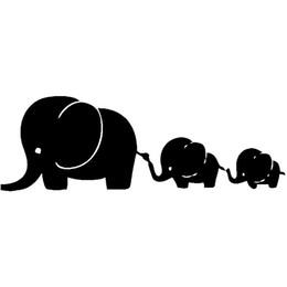 Car deCal family online shopping - 15cm cm Elephant Family Fashion Car Sticker Car Accessories Decal