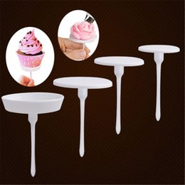 flower nails cake decorating NZ - 1Set 4PCS New Sugarcraft Cupcake Cake Stand Icing Cream Flower Decorating Nail Set Tool
