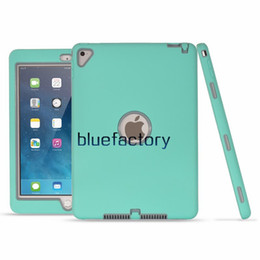tablet inch back 2019 - 3 in 1 Hybrid Armor Robot Case For Apple Ipad Pro 9.7 inch Silicon + PC Defender Shockproof Heavy Duty Case Tablet PC Pr