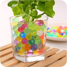 Wholesale water beads g Magic Plant Crystal Soil Mud Water Beads Pearl ADS Jelly Crystal ball soil O A