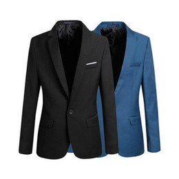 Barato Blazer De Blusa De Casaco Fino-Casual Blazer Men Fashion Plus Size Business Slim Fit Jacket Suits Masculino Blazer Coat Button Suit Homens Casaco Formal