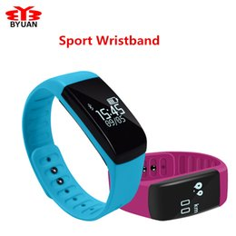 $enCountryForm.capitalKeyWord Canada - Wholesale- 2017 Smart Band Bracelet OLED Touch Screen Fitness Tracker Padometer Sports Sleep Monitor Smart Wristband Watch For IOS Android