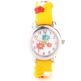 Chinese  3D Cartoon Children Watch Kids Students Cute Design Silicone Quartz Analog Wristwatches Little Girl Boy Christmas Birthday Gift Watches manufacturers