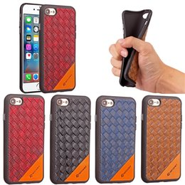 Hot Sales Iphone Case Canada - 2017 for iphone 6s 7 plus 8 woven pattern case luxury design hot sale phone accessories case iphone